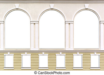 Windows - Isolated windows. Element of architecture design.