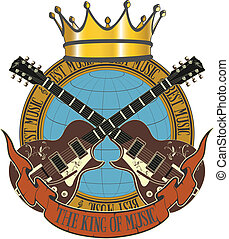 The king of music symbol - The vector image king of music...
