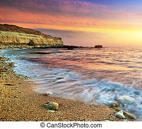 Beautiful seascape Nature compositon of sunset