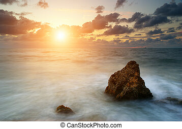 Seascape at sunset Nature composition