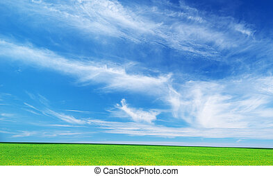 Plain and deep blue sky