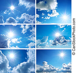 Sky collection - Sky daylight collection. Natural sky...