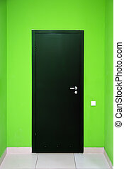 One black door. Element of design.