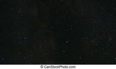 Our galaxy - Time lapse of night sky with stars and Milky...