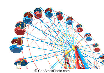 Ferris wheel - The Ferris wheel isolated on white background