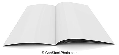 White Journal - 3D Rendered white journal over white...