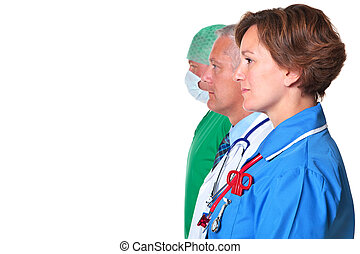 Side view of a Nurse Doctor and Surgeon - Photo of a nurse,...