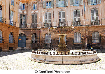 Fountain in Aix-en-Provence - One of the alleged 1000...