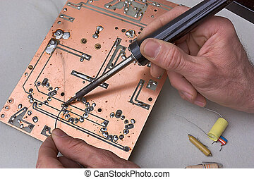 repair of circuit board - electronic laboratory - technician...