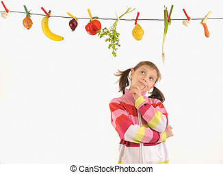 Vegetables  and Fruits Hanging