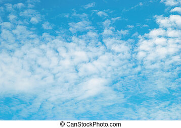 Clouds and sky can be used for background