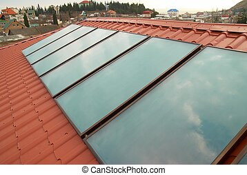 Solar water heating system - Solar water heating system...