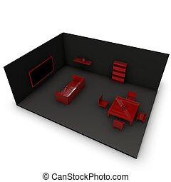 interior room - visualization of an interior room.