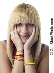 Blonde Woman\'s Portrait
