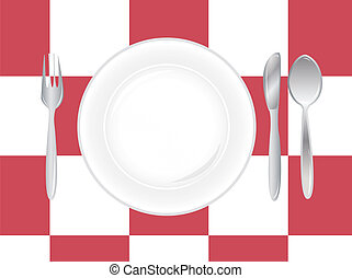 place setting with silverware