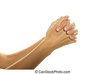 mains, plié, prière
