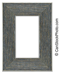Blank modern picture frame, rough printed wooden texture, highly detailed, isolated on white background