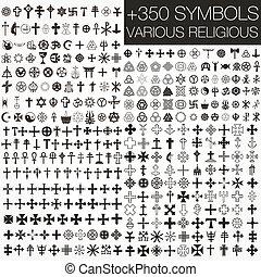 350 symbols vector religious - 350 symbols vector various...
