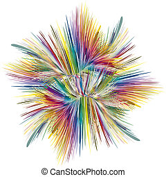 Color explosion - Abstract color explosion as symbol for...