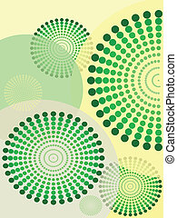 Creative background with circles