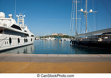 Luxury boats, on French Riviera. - Luxury boats, super...