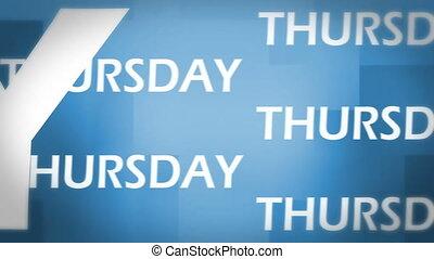 Thursday animation
