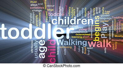 Toddler baby background concept glowing - Background concept...