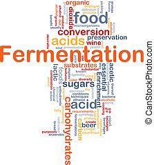 processo, conceito, fermentação, fundo