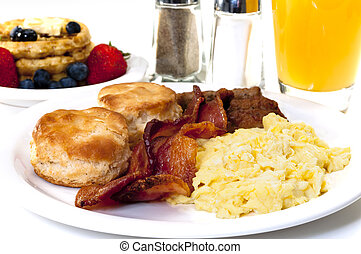 Big Country Breakfast - Big country breakfast with scrambled...