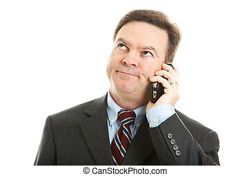 Businessman - Boring Phone Call - Businessman rolling his...