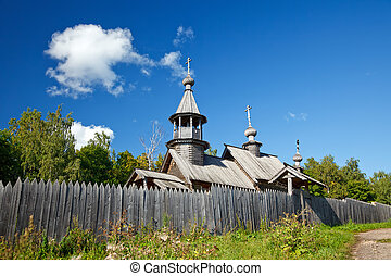 Old russian ortodox church in countryside