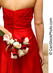 Bridal Bouquet - A lovely red and white rose bridal bouquet...