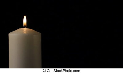 Candle flame - Burning flame of a candle