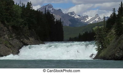 Bow Falls in Banff National Park, Canada