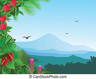 Nature background - Vector illustration of beautiful nature...