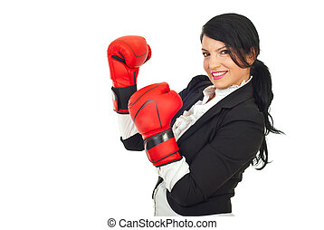 Business woman with attitude - Happy business woman with...
