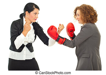 Competition fight business women