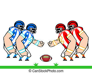 American football teams - American flag colored football...