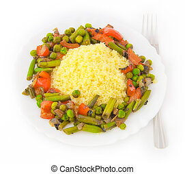 Kus-kus, the African dish with ????????? vegetables
