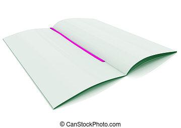 White Journal - 3D Rendered white journal over white...