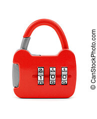 Lock like a handbag isolated on white background