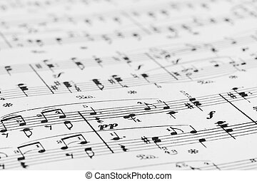 Music sheet - abstract art background
