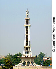 Minar-e-Pakistan, where the Declaration of the Independence...