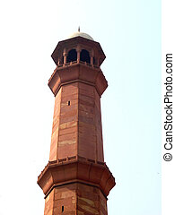 Tall Minaret of Badshahi Mosque in Lahore Measuring more...