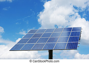 Rotatable solar power station generating clean energy.