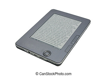 eReader on white - n-ink eReader isolated on white...