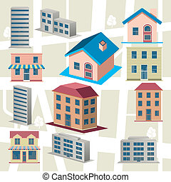 Building icons set - Illustration vector