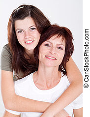 Mother and daughter - Mother and teen daughter portrait