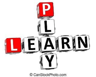 3D Learn Play Crossword