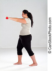 Plus Size Female exercise - Plus Size Female Getting Ready...
